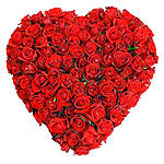Red Roses Heart for Mumbai.